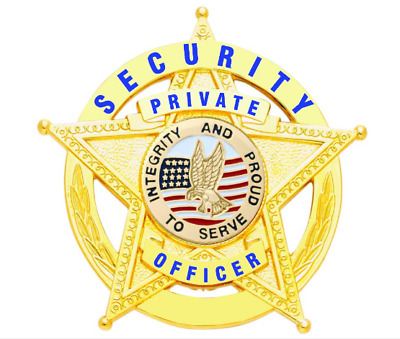 Security Special Officer 5 Point Star Badge |in the circle gold