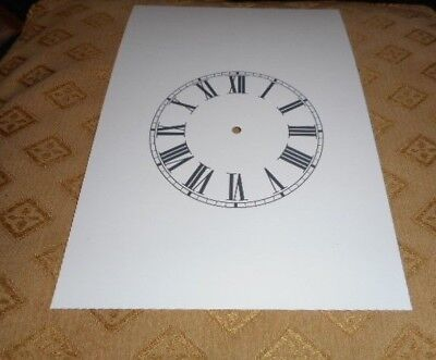 "Steeple Paper Clock Dial- 4 1/4"" M/T -Roman Numerals - White - Face /Clock Parts"