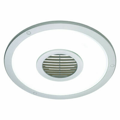 Heller EFL10RS Silver Round 250mm Ceiling Light Exhaust Fan /Bathroom/laundry