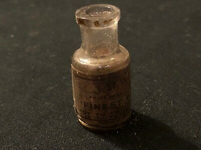 Antique Watch Oil Bottle - Empty - Collectable Old Supply Bottle - J D Windles