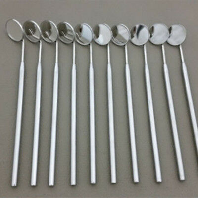 10x Dental Mouth Mirrors With Grip Handle Stainless Steel Glass #4 Examination