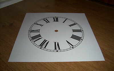 "Ogee Paper Clock Dial- 7 1/4"" M/T - Roman -  White Matt - Face/ Clock Parts"