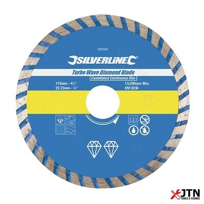 Silverline 633588 Turbo Wave Diamond Cutting Blade 230 x 22.2 mm