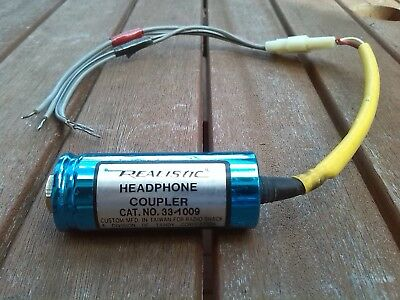 Headphone Coupler Radio-Shack Tandy Realistic Vintage Stereo Quality Working