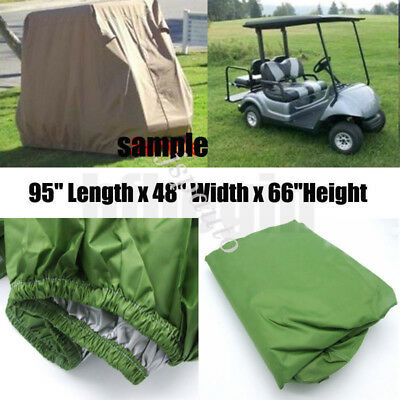 "AU 95"" 2 Passenger  Enclosure Storage Golf Cart Cover For EZ Go Club Yamaha"