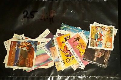 25 All Different Christmas Island Stamps