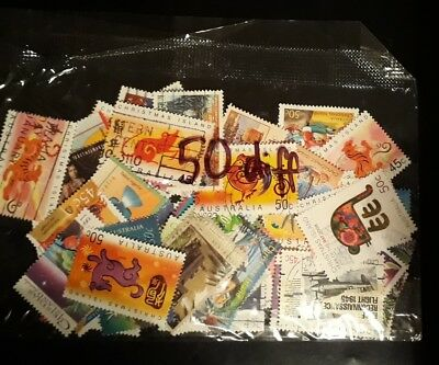 50 All Different Christmas Island Stamps