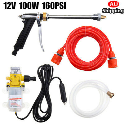 AU 12V 100W 160PSI High Pressure Car Washer Cleaner Water Wash Pump Sprayer Tool