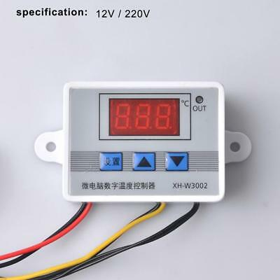 12/220V Digital Temperature Controller Thermostat Control Switch Probe 10A FE