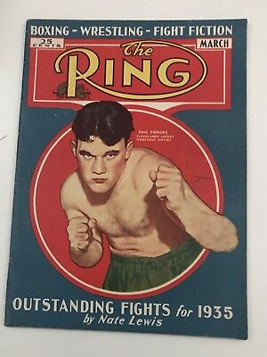 """March ,1935 . """"The Ring """"boxing magazine Paul Pirrone"""