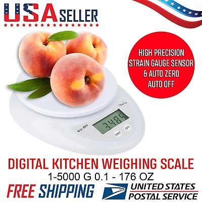 USA Seller Digital Kitchen Scale Diet Food Compact Postal Scale 0.01-176 oz