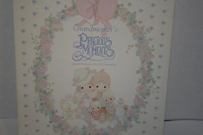PRECIOUS MOMENTS Grandmother's Special Memories for My Grandchild Book NEW