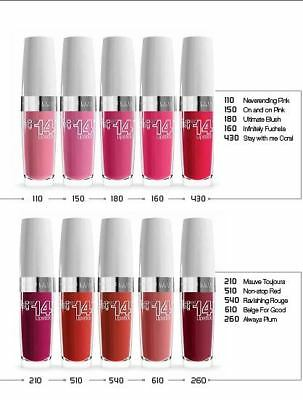 New Maybelline SuperStay 14hr Lipstick Please choose your shade 430 110 180