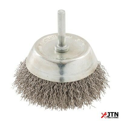 Silverline 409596 Rotary Stainless Steel Wire Cup Brush 75mm - 6mm Shank