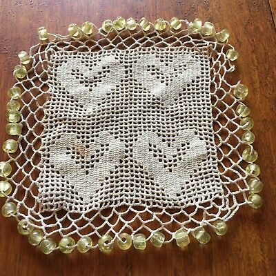 Antique Glass Bead Crochet Jug Cover #2