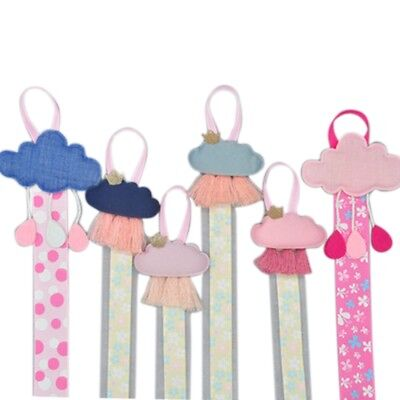 Baby Girl Ribbon Hanging Hair Bow Headband Clip Organizer Cloud Tassels Holder