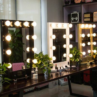 Hollywood Makeup Vanity Mirror Lighted Dimmer Aluminum Beauty Stage LED Bulbs