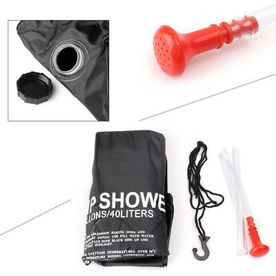 20/40L Foldable Solar Energy Heated Water Bag Camp Shower Outdoor Travel Hiking