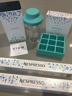 Brand New Nespresso Iced Coffee Kit Silicone Ice Tray And