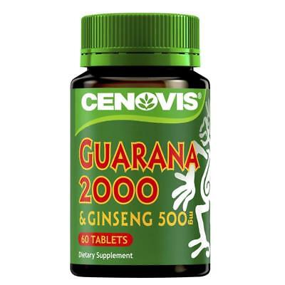 3x Cenovis Guarana 2000 & Ginseng 500 60 Tablets