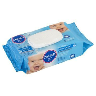 3x Curash Babycare Simply Water Wipes 80