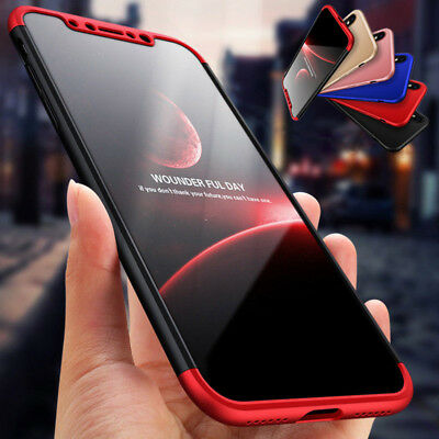 Fr iPhone X 8 7 6s Plus XS Max Slim Hybrid Shockproof Armor Hard Thin Case Cover