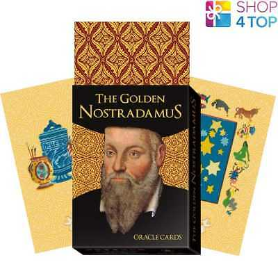 The Golden Nostradamus Oracle Cards Deck Esoteric Telling Lo Scarabeo New
