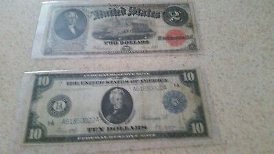 paper money USA large notes