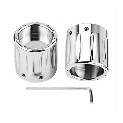 Edge Cut Front Axle Cap Nut Cover Fit For Harley Touring Electra Glide Chrome
