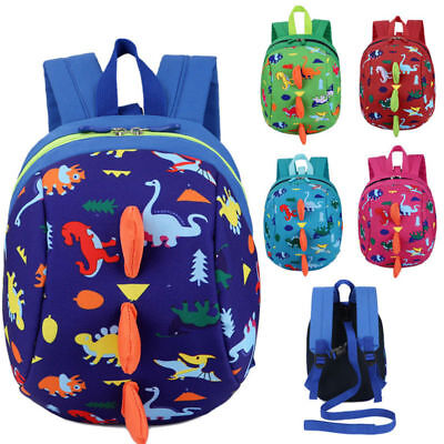 Lovely Cartoon Dinosaur Safety Harness Strap Bag Backpack W/ Reins For Kids