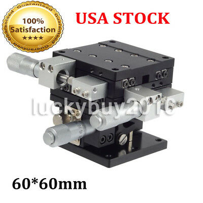 XYZ 3-Axis Trimming Platform Linear Stages Bearing Tuning Sliding Table 60*60mm