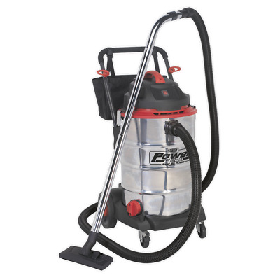 Vacuum Cleaner Wet & Dry 60ltr Stainless Drum 1600W/230V - Sealey - PC460