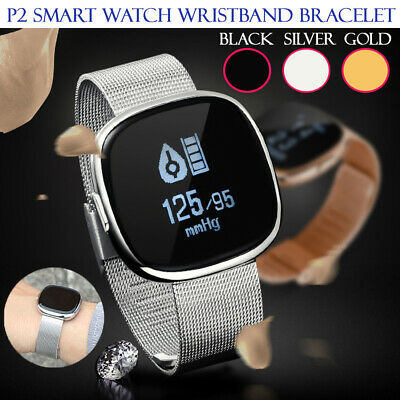 Waterproof P2 Smart Watch Bracelet Heart Rate Monitor Fitness Wristband Tracker