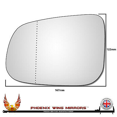Left Passenger Side Wide Angle Wing Door Mirror Glass for volvo c70 1997-2004