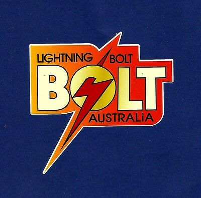 LIGHTNING BOLT SURFBOARDS 1970s Manufacturer Sticker Decal LONGBOARD Surfing