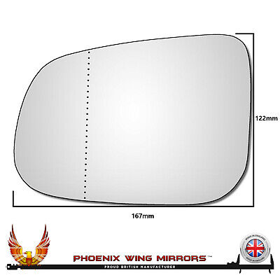 Vauxhall Astra H 2004-2012 Left Passenger Side Wing Mirror Glass Clip On #Pol