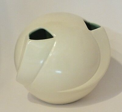 Vintage Red Wing Pottery Ivory Ball Vase