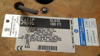 Alpha wire 5484c SL005 Slate 4 Pair, 22 AWG, 0.35 mm², 100 ft, 30.5 m