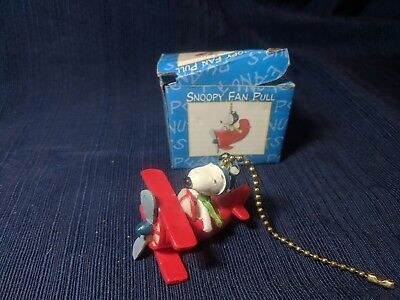 SNOOPY * Flying ace* Fan Pull - New in Damaged Box