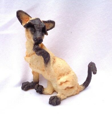 """A BREED APART CAT. authentic retired. """"SIAMESE LICKING PAW"""" Border Fine Arts .!"""