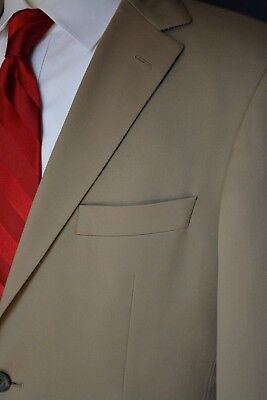 Hugo Boss 38R Tan Beige 100% Wool Blazer Sport Coat Made in USA