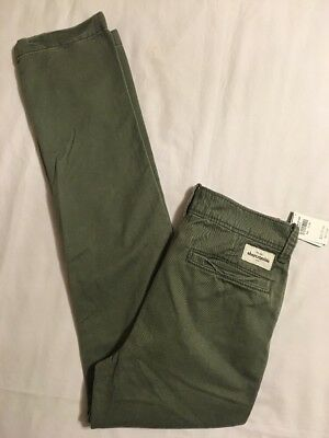 NWT Abercrombie & Fitch Kids A & F Boys Chino Pants Size 12 Slim Straight 😎#7