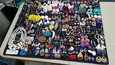 Estate Lot of Vintage to Modern Costume Jewelry. Pins, Earrings, Necklaces, Etc