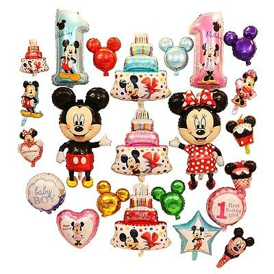 "40"" mickey mouse minne head Foil Balloons Fo Baby kids Birthday Party Decor Gift"