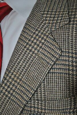 ORVIS 44R Tan Beige Glen Check Plaid Merino Wool - Lambs Wool Blazer Sport Coat