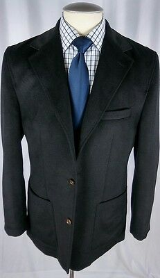 Cremieux Classico Jacket Medium Black 3 Pockets Surgeon Sleeves