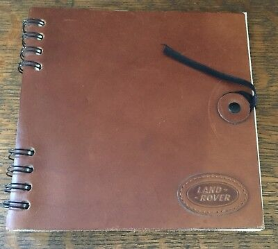Land Rover Photo Album, Leather Cover, Never Used, with Photo Mounts