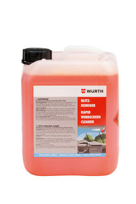 NEW Wurth SUMMER Windscreen Screenwash Concentrated Additive 5 LITRE 500 FILLS!