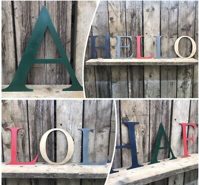 BIG COLOURED LETTERS metal rustic shop sign lettering home retro vintage words