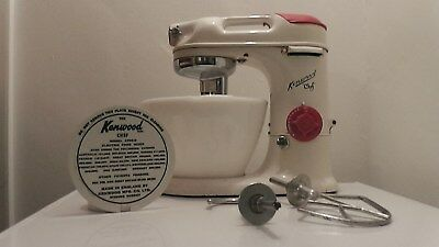Vintage kenwood chef model A700 purchased 1.4.1959  with attachments